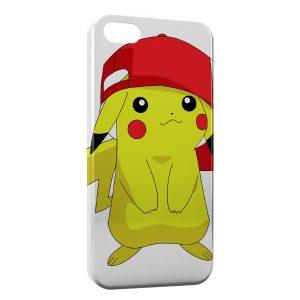 Coque iPhone 5/5S/SE Pikachu Pokemon Casquette Sacha