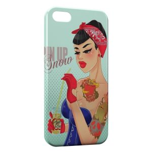 Coque iPhone 5/5S/SE Pin up Blanche Neige