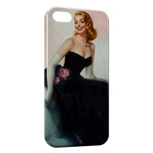 Coque iPhone 5/5S/SE Pin up Painted 2