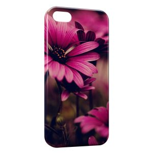 Coque iPhone 5/5S/SE Pink Flowers Art
