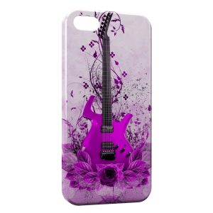 Coque iPhone 5/5S/SE Pink Guitare