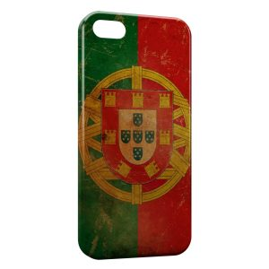 Coque iPhone 5/5S/SE Portugal Drapeau 4