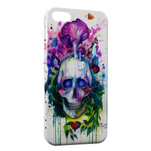 Coque iPhone 5/5S/SE Psychedelic Skull paint