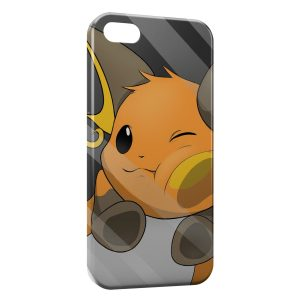 Coque iPhone 5/5S/SE Raichu Glace Vitre Pokemon