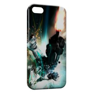 Coque iPhone 5/5S/SE Robot Fire Game