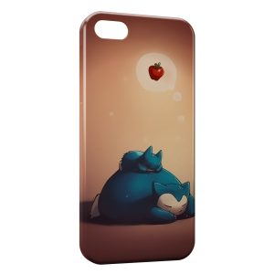Coque iPhone 5/5S/SE Ronflex Snorlax Pokemon Style