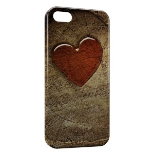 Coque iPhone 5/5S/SE Rouge Coeur Image Style