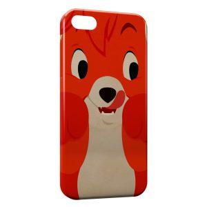 Coque iPhone 5/5S/SE Rox et Rouky Renard Fox