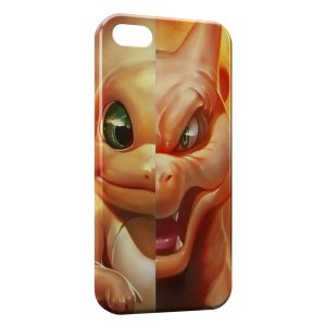 Coque iPhone 5/5S/SE Salameche Dracaufeu Pokemon Design