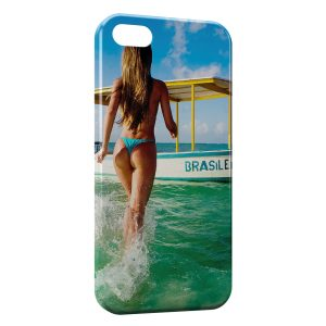 Coque iPhone 5/5S/SE Sexy Girl Beach
