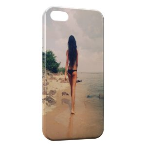 Coque iPhone 5/5S/SE Sexy Girl Beach Plage