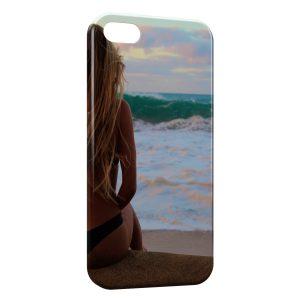 Coque iPhone 5/5S/SE Sexy Girl Beach Plage Mer Sea