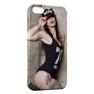 Coque iPhone 5/5S/SE Sexy Girl Casquette