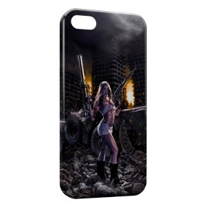 Coque iPhone 5/5S/SE Sexy Girl & Guns