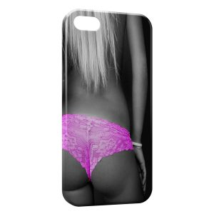 Coque iPhone 5/5S/SE Sexy Girl Shorty Rose