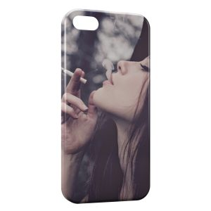 Coque iPhone 5/5S/SE Sexy Girl Smoking