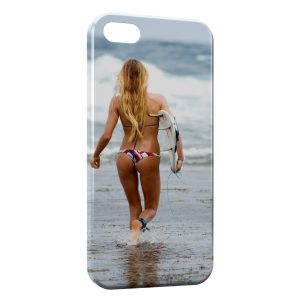 Coque iPhone 5/5S/SE Sexy Girl Surf 3