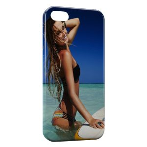 Coque iPhone 5/5S/SE Sexy Girl Surf 4