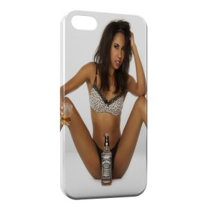 Coque iPhone 5/5S/SE Sexy Girl Whisky Jack Daniel's