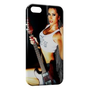 Coque iPhone 5/5S/SE Sexy Hot Girl Guitare