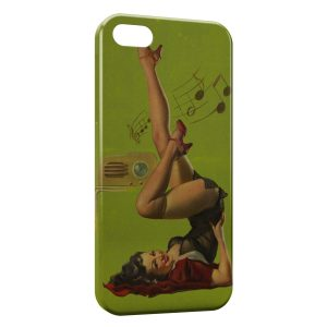 Coque iPhone 5/5S/SE Sexy Pin Up 4