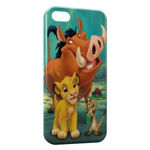 Coque iPhone 5/5S/SE Simba Timon Pumba Le Roi Lion