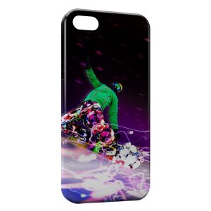 Coque iPhone 5/5S/SE Snowboard Paradise