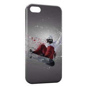 Coque iPhone 5/5S/SE Snowboarder Art