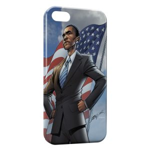 Coque iPhone 5/5S/SE Super Obama USA