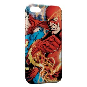 Coque iPhone 5/5S/SE Superman & Flash