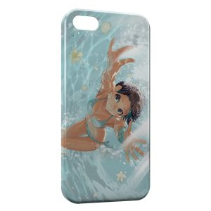 Coque iPhone 5/5S/SE Swim Girl Manga