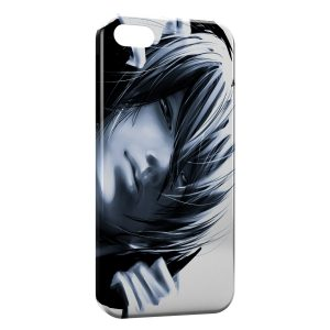 Coque iPhone 5/5S/SE Tete Black and White Manga