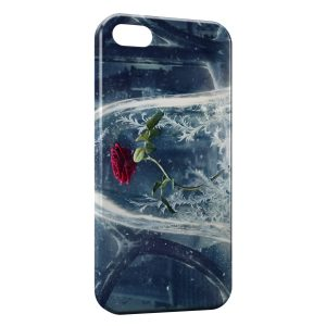 Coque iPhone 5/5S/SE The Beauty and The Beast Disney Rose