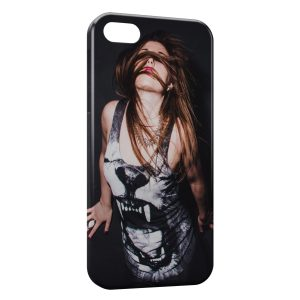 Coque iPhone 5/5S/SE Tiger T-shirt Girl
