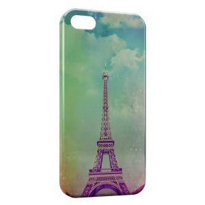 Coque iPhone 5/5S/SE Tour Eiffel Vintage Art