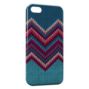 Coque iPhone 5/5S/SE Tricot Art Design Hippie