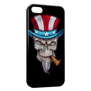 Coque iPhone 5/5S/SE USA Tete de Mort I Want You