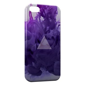 Coque iPhone 5/5S/SE Violet Pyramide