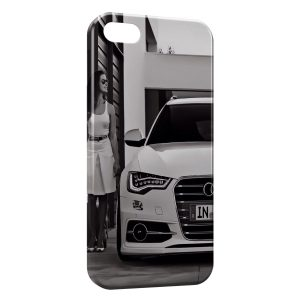 Coque iPhone 5/5S/SE Voiture de luxe & Girl