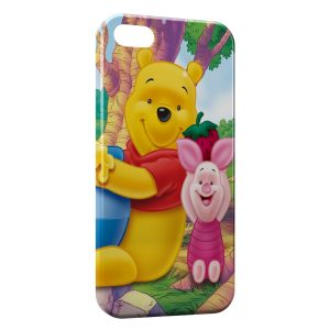 Coque iPhone 5/5S/SE Winnie l'Ourson et Porcinet 3