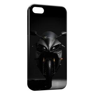 Coque iPhone 5/5S/SE Yamaha YZF R1 Moto Black & White