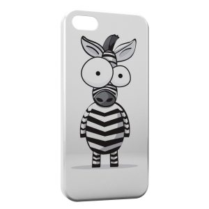 Coque iPhone 5/5S/SE Zèbre cartoon