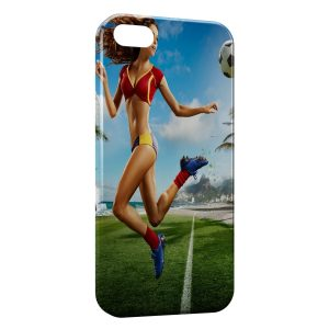 Coque iPhone 5/5S/SE sexy girl football