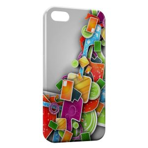 Coque iPhone 5C 3D Design colors