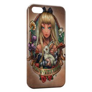 Coque iPhone 5C Alice Punk au Pays des Merveilles