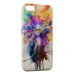 Coque iPhone 5C Angel colors