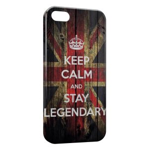 Coque iPhone 5C Anglais Keep Calm and Stay Legendary