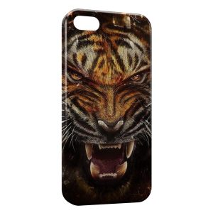 Coque iPhone 5C Angry Tiger