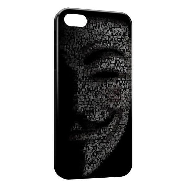 Coque iPhone 5C Anonymous 2