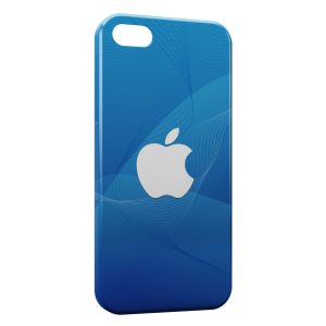Coque iPhone 5C Apple Blue & White